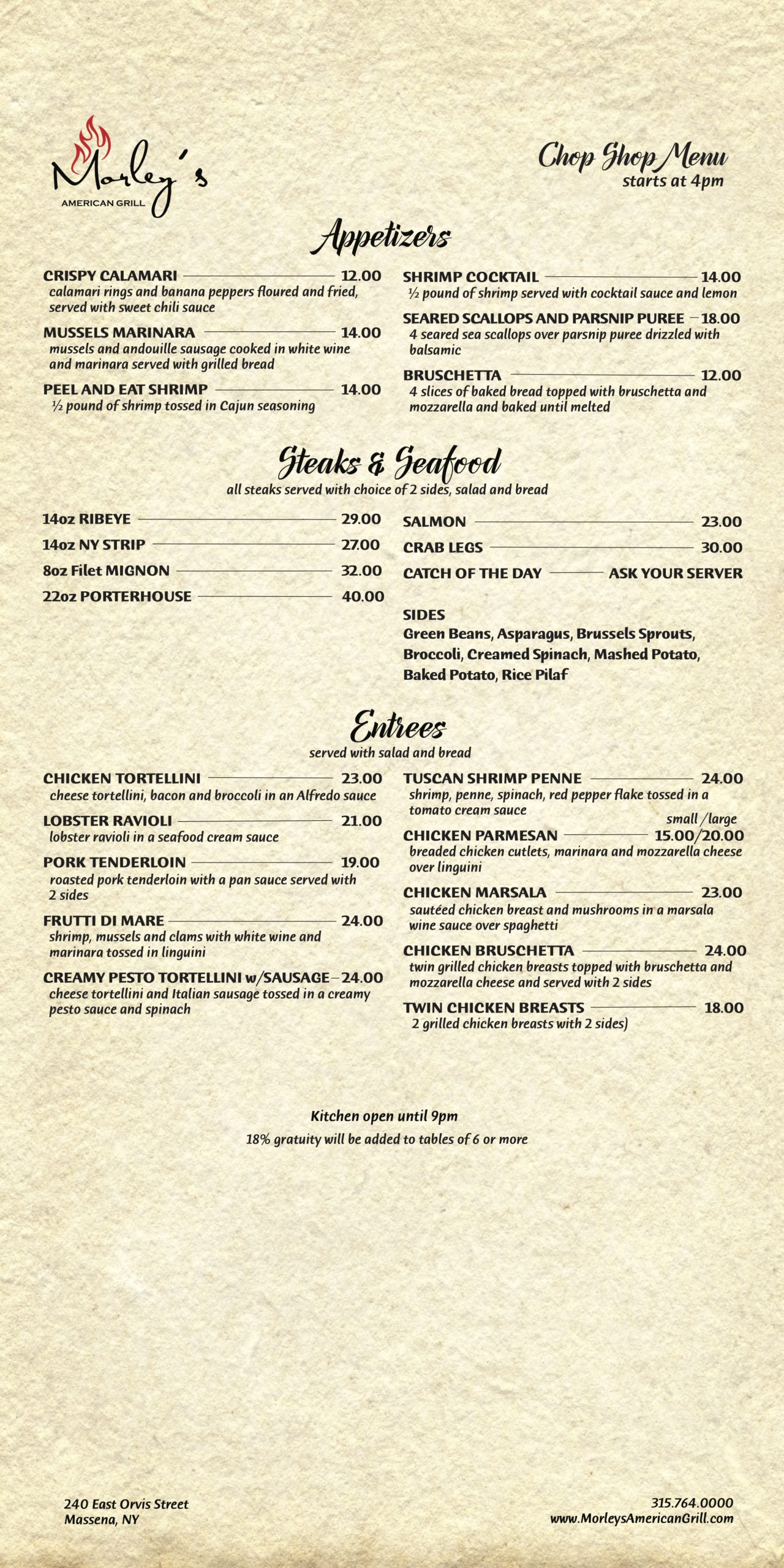 morleys chop menu 10_5_20
